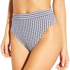 Xhilaration high-waisted gingham bikini bottoms